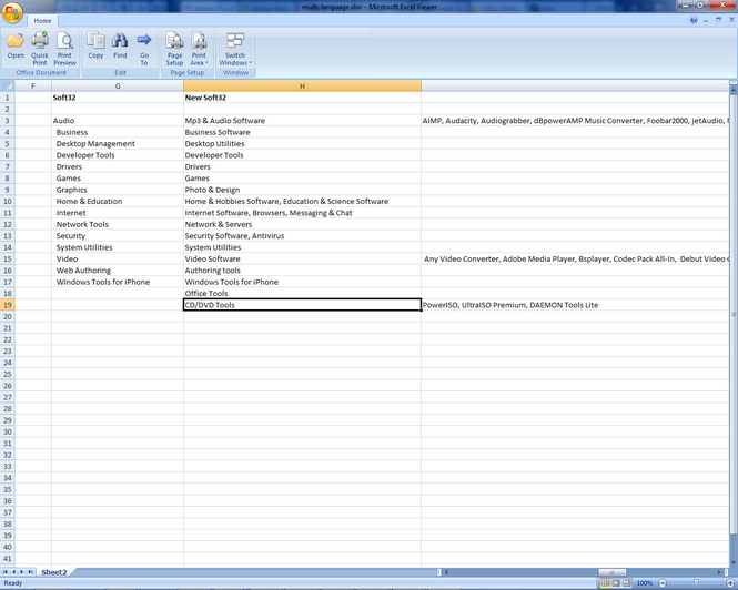 Excel Viewer Screenshot