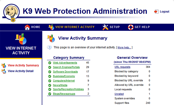 K9 Web Protection Screenshot 2