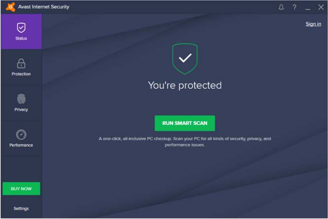 Avast! Internet Security 2017 Screenshot