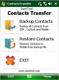 Iwm Transfer Contacts Screenshot