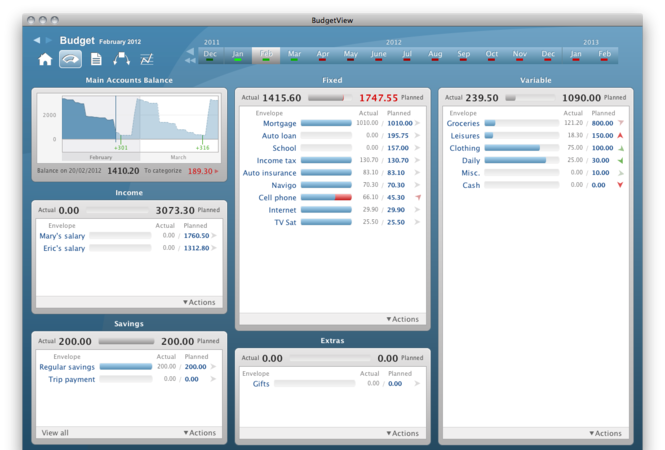 BudgetView Screenshot 1