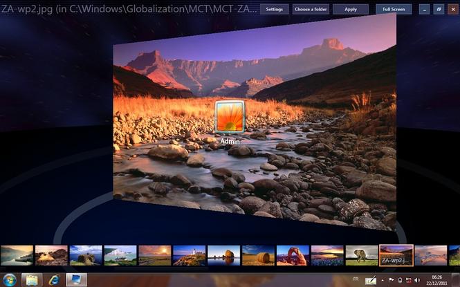 Windows 7 Logon Background Changer Screenshot