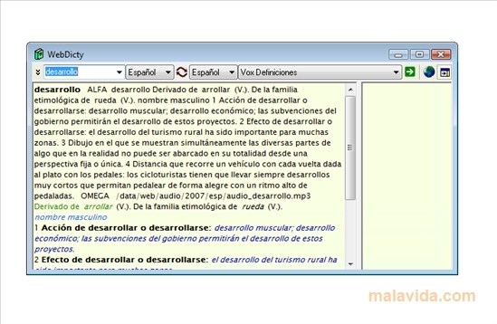 WebDicty Screenshot 1