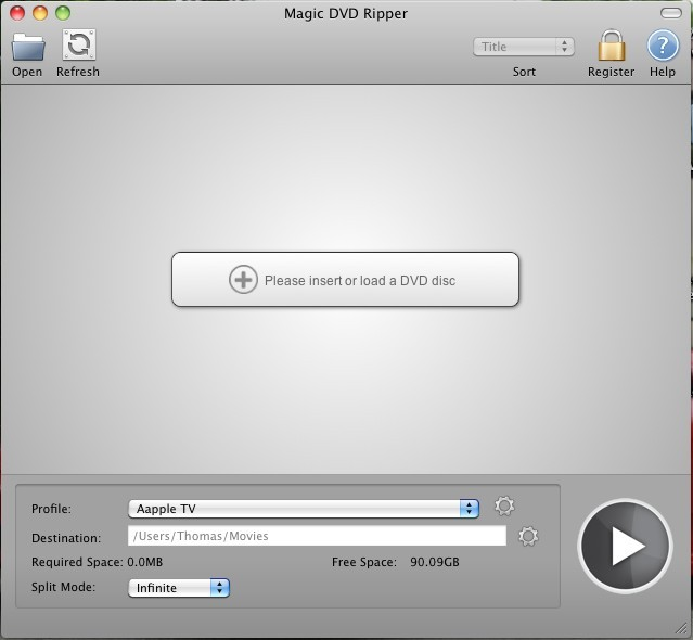 Magic DVD Ripper for Mac Screenshot 1