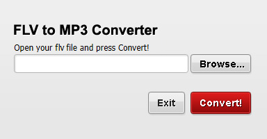 Convertibles FLV to MP3 Converter Screenshot
