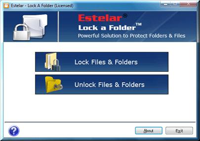 Lock A Folder Screenshot