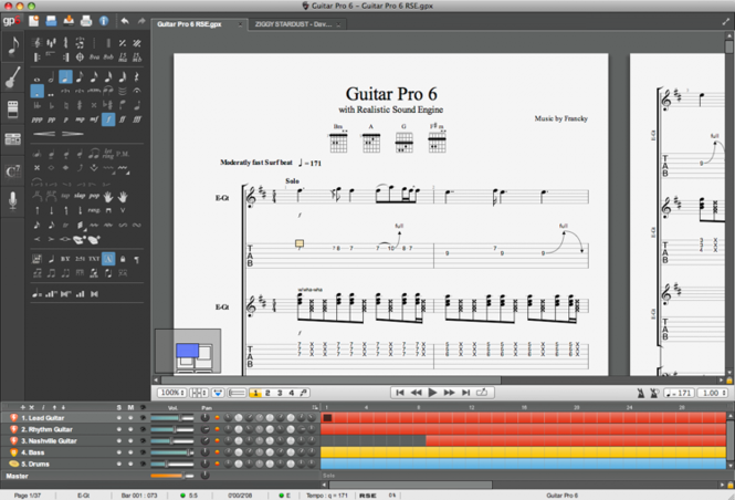 Guitar Pro 6 Trial Version for Mac Screenshot