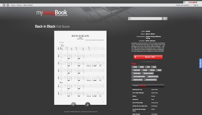 mySongBook Player Screenshot