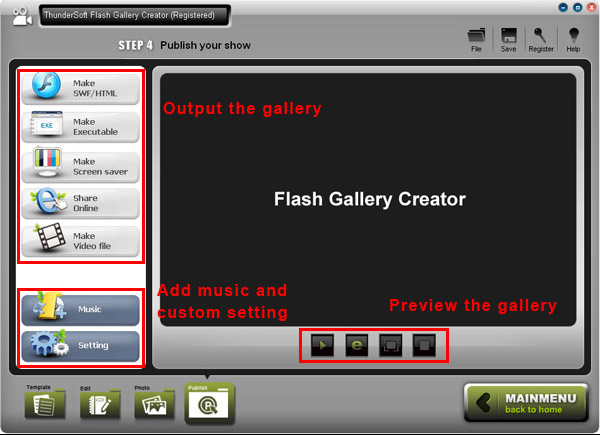ThunderSoft Flash Gallery Creator Screenshot 3