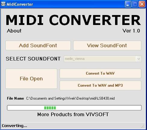 MidiConverter Screenshot