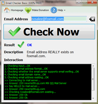 Email Checker Basic Screenshot