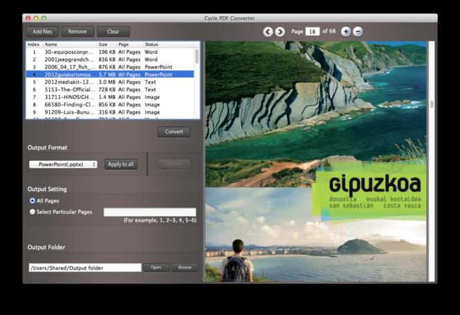 Cycle PDF Converter for Mac Screenshot