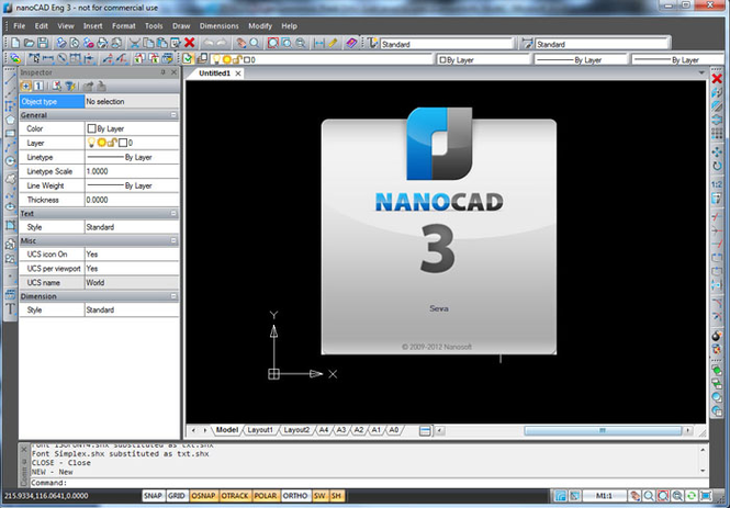 nanoCAD Screenshot