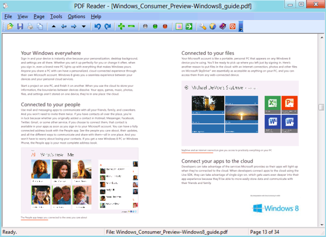 PDF Reader for Windows 8 Screenshot
