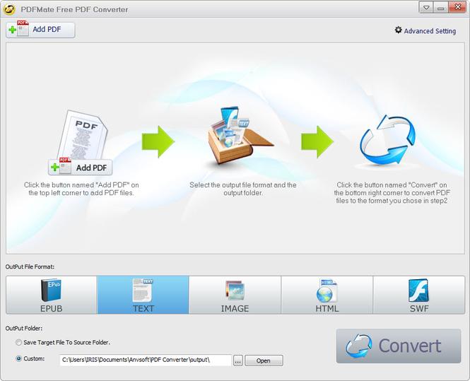 PDFMate PDF Converter Screenshot