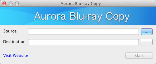 Aurora Blu-ray Copy for Mac Screenshot