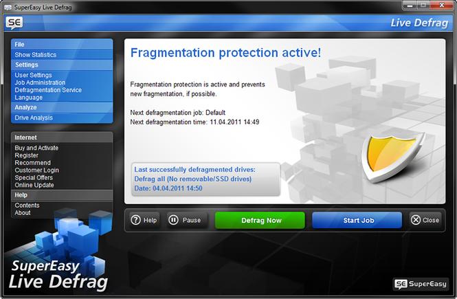 SuperEasy Live Defrag Screenshot