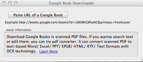 Free Google Books Downloader for Mac Screenshot
