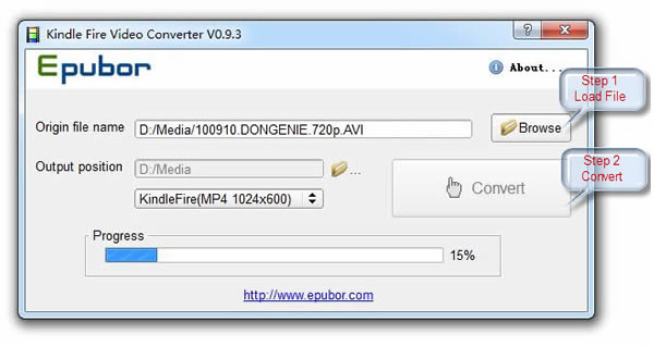Epubor Kindle Video Converter Screenshot 1