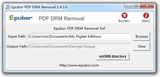 Epubor PDF DRM Removal Screenshot