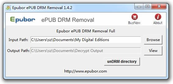 Epubor ePUB DRM Removal Screenshot