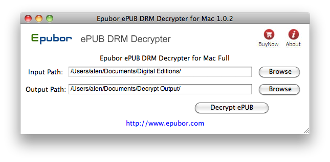 ePUB DRM Removal for Mac Screenshot