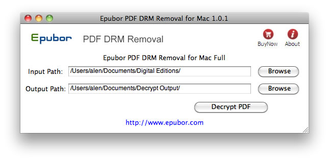 Epubor PDF DRM Removal for Mac Screenshot 1