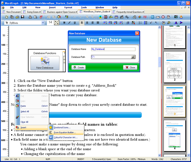 SSuite Office WordGraph Screenshot 1