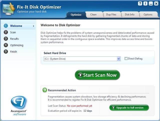 Fix-It Disk Optimiser Screenshot 2