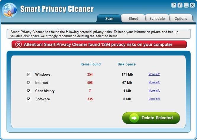 Smart Privacy Cleaner Screenshot