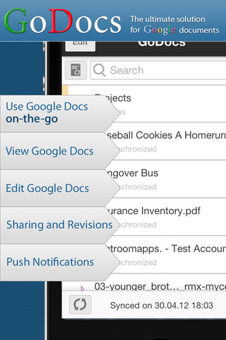 GoDocs for Google Docs Screenshot 2