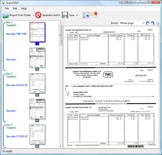 Scan To PDF Barcode Batch Bundle Screenshot 1
