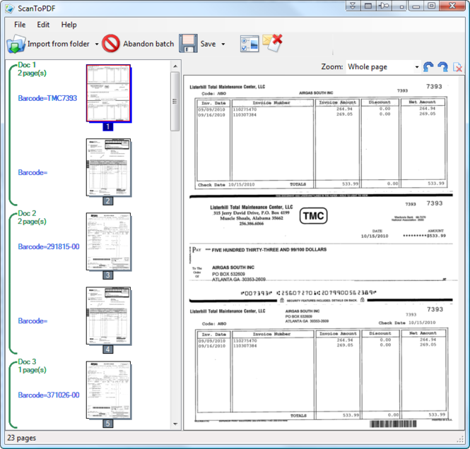 Scan To PDF Network Scanner OCR Solution Screenshot