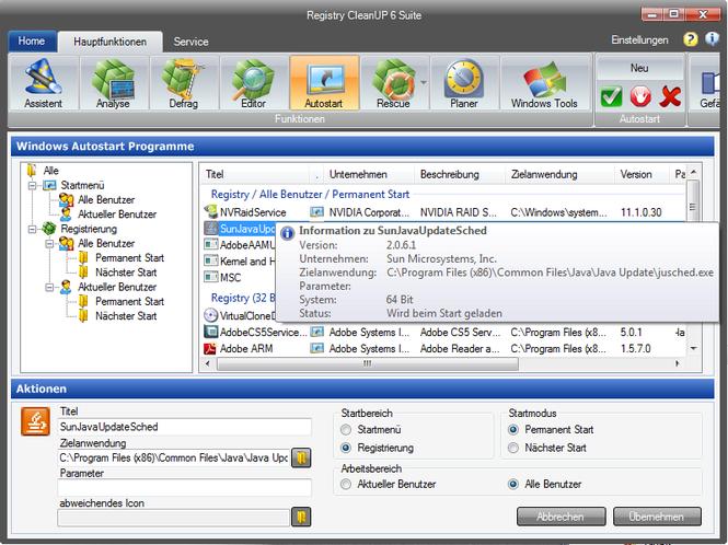 Registry CleanUP 6 Suite Screenshot 1