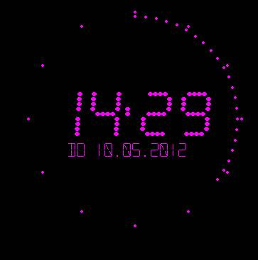 Flying Clock Screensaver Screenshot