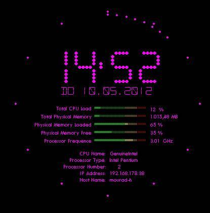 Flying Clock Screensaver Pro Screenshot
