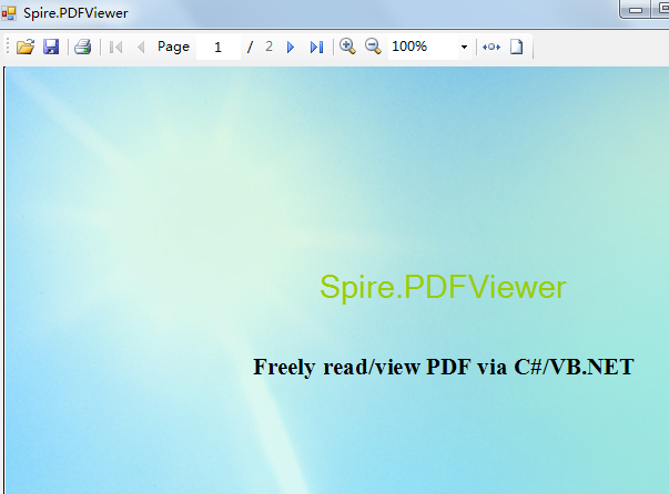 Spire.PDFViewer for WPF Screenshot