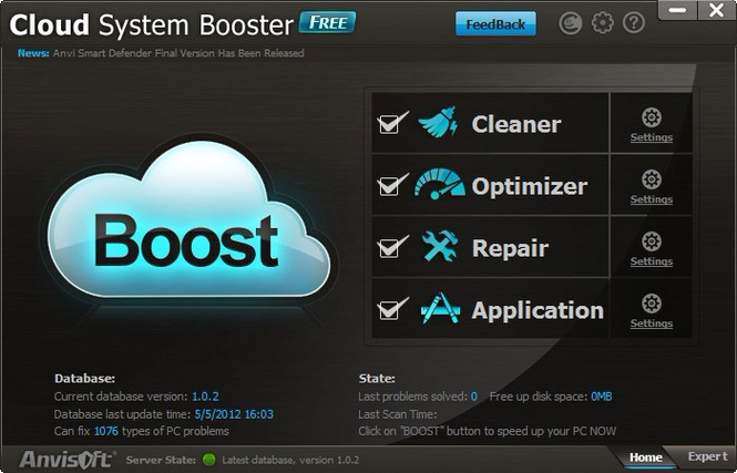 Cloud System Booster Screenshot 1