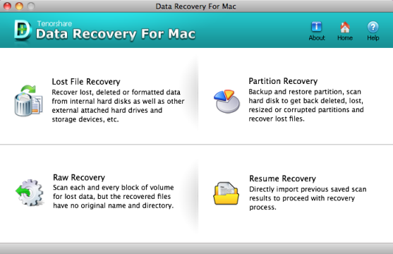 Tenorshare Data Recovery for Mac Screenshot