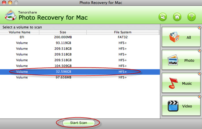 Tenorshare Photo Recovery for Mac Screenshot 1