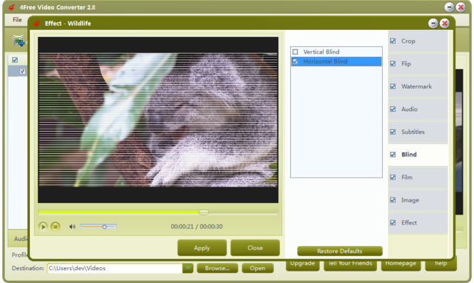 4Free Video Converter Screenshot