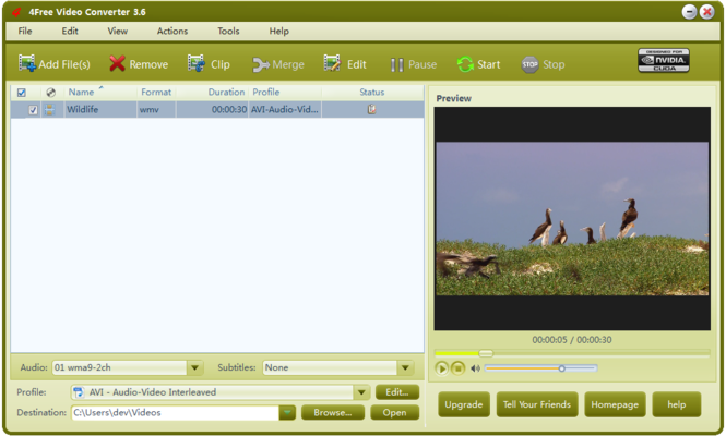 4Free Video Converter Screenshot 4