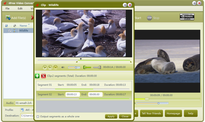 4Free Video Converter Screenshot 2