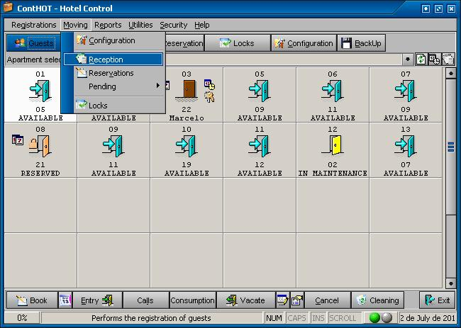 ContHOT - Hotel Control Screenshot