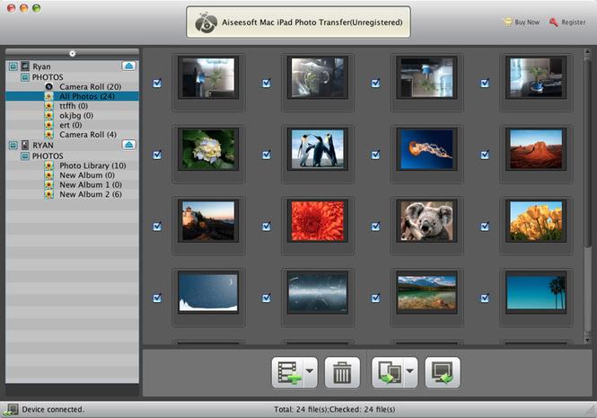 Aiseesoft Mac iPad Photo Transfer Screenshot 1