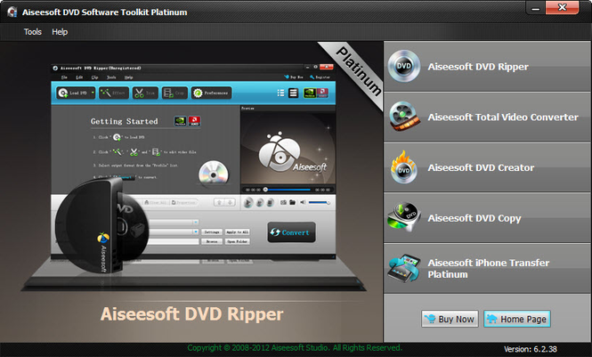 Aiseesoft DVD Software Toolkit Platinum Screenshot 1