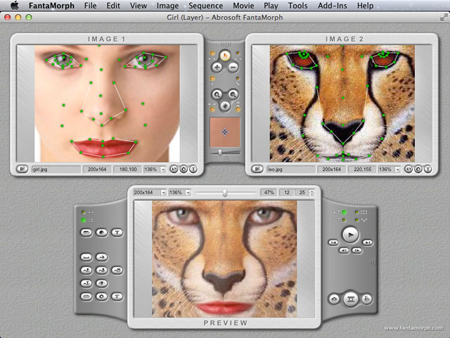 Abrosoft FantaMorph Deluxe for Mac Screenshot 1
