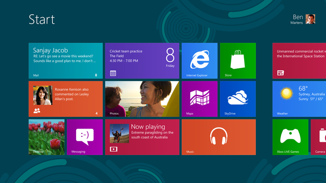 Windows 8 Release Preview Screenshot 1