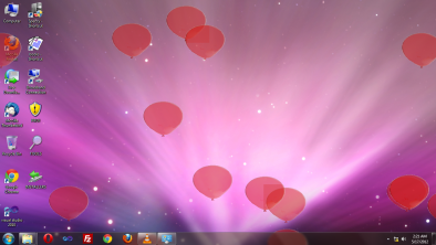 Balloons at the Desktop Screenshot