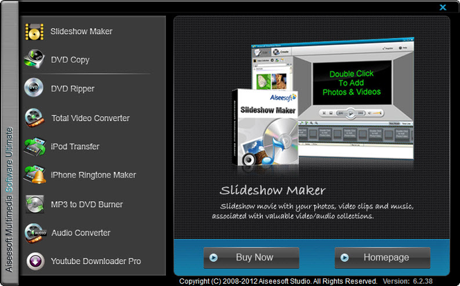 Aiseesoft Multimedia Software Toolkit Screenshot